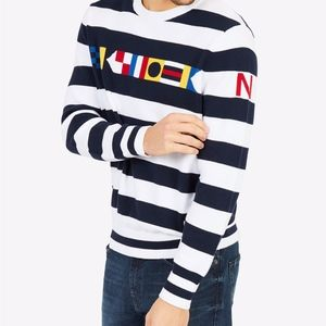 Nautica Men's Signal Stripe Sweater **NWT**